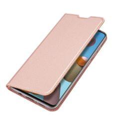 Dux Ducis Skin Pro knižkové kožené puzdro na Samsung Galaxy A21S, ružové