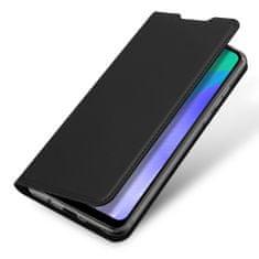 Dux Ducis Skin Pro knížkové kožené pouzdro na Huawei Y6p, černé