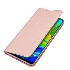 Dux Ducis Skin Pro knížkové kožené pouzdro na Xiaomi Redmi 10X 4G / Redmi Note 9, růžové