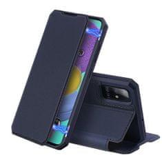 Dux Ducis Skin X knížkové kožené pouzdro na Samsung Galaxy A51, modré