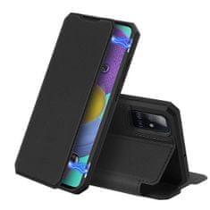Dux Ducis Skin X knížkové kožené pouzdro na Samsung Galaxy A51, černé