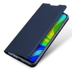 Dux Ducis Skin Pro knížkové kožené pouzdro na Xiaomi Redmi 10X 4G / Redmi Note 9, modré