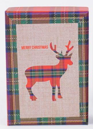 DUE ESSE Komplet 3 božićne kutije, 3 veličine, merry xmas