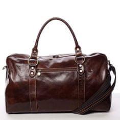 Delami Vera Pelle Kožená, velká cestovní taška Alva, tmavě hnědá