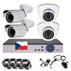 Eonboom 4CH 5MPx AHD kamerový set 2+2BD CCTV - DVR s LAN a 4x venkovní bullet/dome kamera