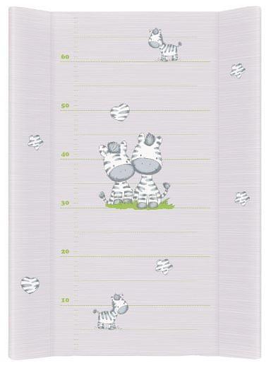 Ceba Baby Přebalovací podložka tvrdá 70 cm Zebra šedá