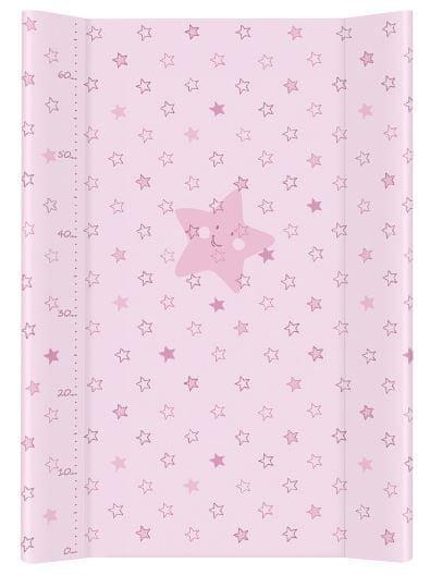 Ceba Baby Přebalovací podložka tvrdá 70 cm Hvězdy růžová