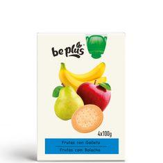 BePlus Kapsička ovoce se sušenkou 4x100g