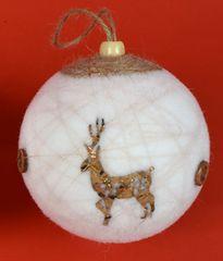 DUE ESSE Set 8 božičnih kroglic Ø 6 cm, jeleni