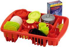 ECOIFFIER Étkészlet és szárító játékkonyhába