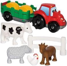 ECOIFFIER Abrick Ciągnik z przyczepą i zwierzętami