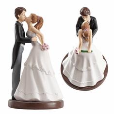 Dekora Svatební figurka na dort polibek 16cm