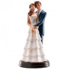 Dekora Svatební figurka na dort 18cm něžné objetí