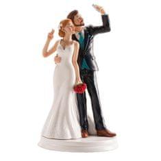 Dekora Svatební figurka na dort 20cm SELFIE