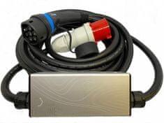 EV Expert EVELINE Max - Chytrá přenosná nabíječka TYP 2 - CEE 5-Kolík   32A   3fáze   22kW   5m