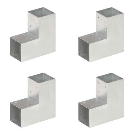 shumee 4 darab L alakú horganyzott fém oszloptartó 91 x 91 mm