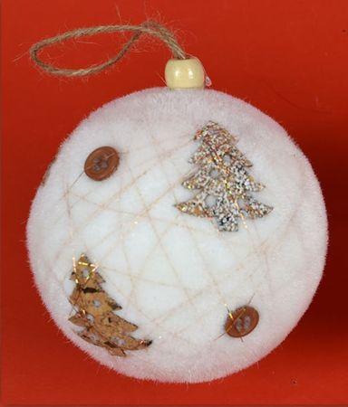 DUE ESSE Set 8 božićnih kuglica Ø 6 cm, drvce