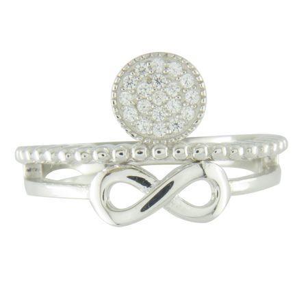 Amiatex Ezüst gyűrű 67174, 55