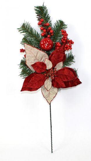 DUE ESSE Vánoční smrková větvička s vánoční hvězdou 60 cm