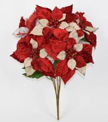 DUE ESSE Buket božićnih crvenih zvijezda, 50 cm
