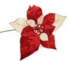 DUE ESSE Vetvička červenej vianočnej hviezdy 55 cm