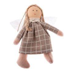 Country Rose textilní andílek, šedý