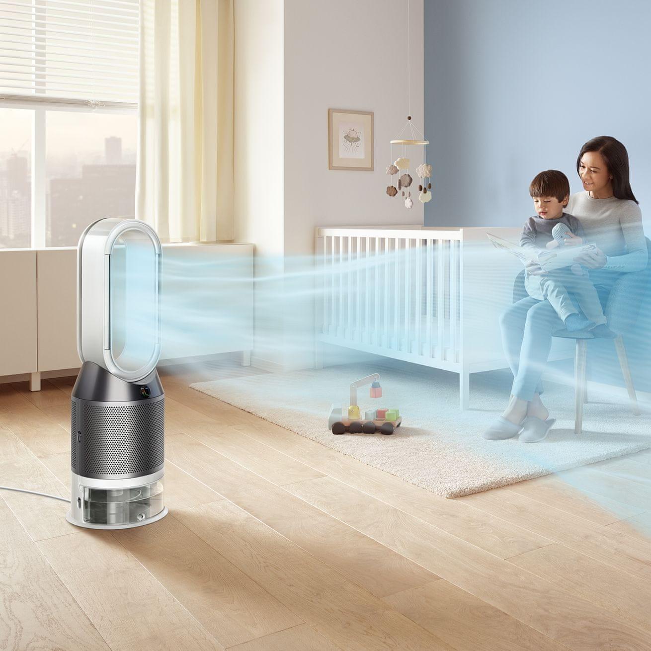 Oczyszczacz powietrza Dyson PH01 niski poziom hałasu