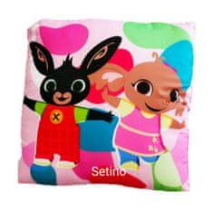 "SETINO Dívčí polštář ""Bing"" - 40x40cm - růžová"