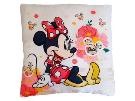 "SETINO Dekliški vzglavnik ""Minnie Mouse"" - 40x40cm - bela"