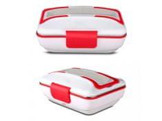 Alum online Ohřívací box na jídlo s kovovou nádobou a příborem 220V a 12v (2v1)