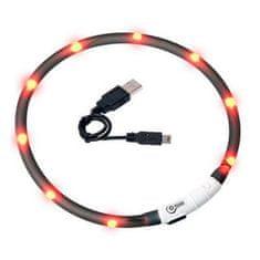 Karlie Világító LED-es macska nyakörv, fekete, 20 - 35 cm