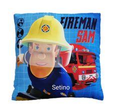 """SETINO Chlapecký polštářek """"Požárník Sam"""" - 40x40cm - modrá"""