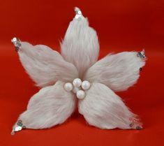 DUE ESSE Vianočná biela hviezda s vlasom 30 cm