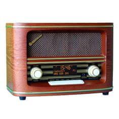 Roadstar asztali rádió, HRA-1500D +, retro