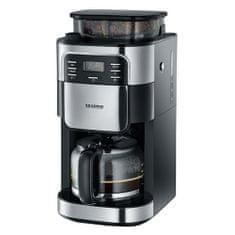 SEVERIN Ekspres do kawy ze szlifierką, ok. 1000 W, do 10 filiżanek, LC, Ekspres do kawy ze szlifierką, ok. 1000 W, do 10 filiżanek, Wyświetlacz LCD z funkcją timera,