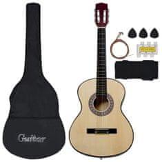 shumee 8dílný set klasická kytara pro děti a začátečníky 3/4 36''