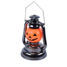 Lampa - lucerna tekvica so zvukom - HALLOWEEN - 17 x 10 cm