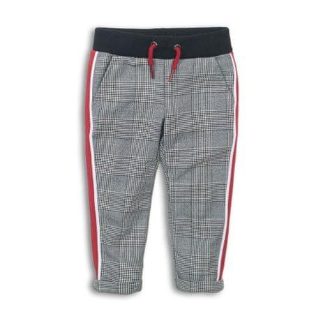 KokoNoko spodnie dresowe dziewczęce z lampasem szare 92