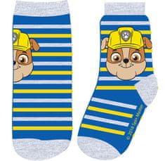 Eplusm Chlapčenské vysoké ponožky PAW Patrol Rubble - modrá s pásikmi