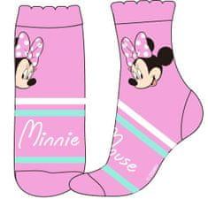 Eplusm Dievčenské vysoké ponožky Minnie mouse - ružová
