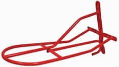 HKM Kovový věšák na sedla HKM červená