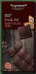 Bio Benjamin Čokoláda ~ tmavá s RAW kakovými kúskami (70 g)