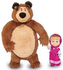 SIMBA Máša a medveď Set Míša plyšový 25cm a bábika Máša 12cm