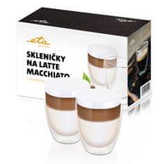 ETA Pohárik na latte macchiato 4181 91020, 350 ml, 2ks