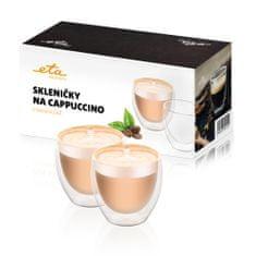 ETA Pohárik na cappuccino 4181 91010, 250 ml, 2ks