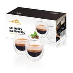 ETA Pohárik na espresso 4181 91000, 80 ml, 2ks