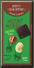 Bio Benjamin Svetlá čokoláda s lieskovcami a morušami (70 g)