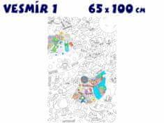 RoomDecor.eu Dětský obraz na vymalování Vesmír 1