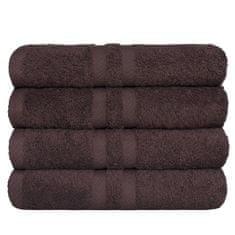 SCANquilt ručník KLASIK hnědá