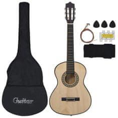shumee 8dílný set klasická kytara pro začátečníky a děti 1/2 34''